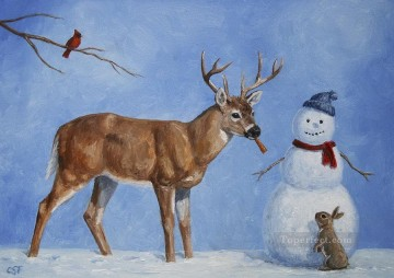 Whose Carrot Christmas kids Oil Paintings