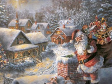 santa painting - XS072 kids Christmas Santa Claus