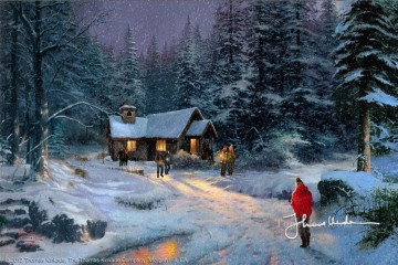 Christmas Painting - Christmas Miracle Thomas Kinkade kids