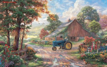 Christmas Painting - Christmas Thomas Kinkade Summer Heritage kids