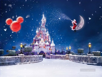 Disney Fairytale Christmas kids Oil Paintings