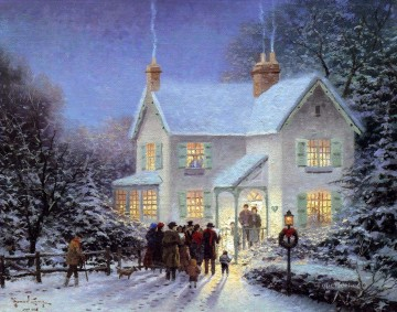 Evening Carolers Thomas Kinkade kids Oil Paintings