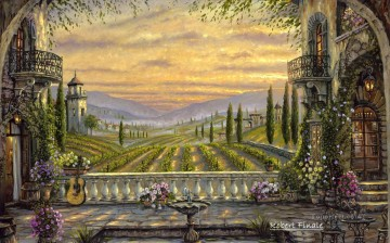 Poetic Tuscany Italy kids Oil Paintings