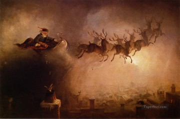 santa painting - Santa Claus William Holbrook Beard kids