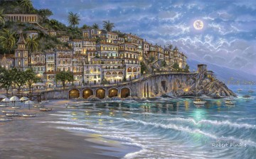 Starry Night in Amalfi kids Oil Paintings
