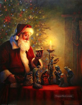 The Spirit of Christmas kids Oil Paintings