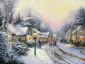 Village Christmas Thomas Kinkade kids