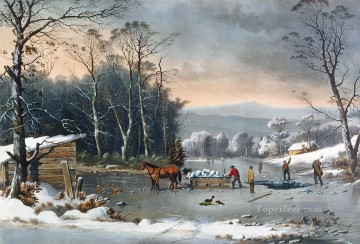 Winter In The Country kids Oil Paintings