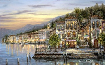 Bellagio Lake Como Robert F kids Oil Paintings