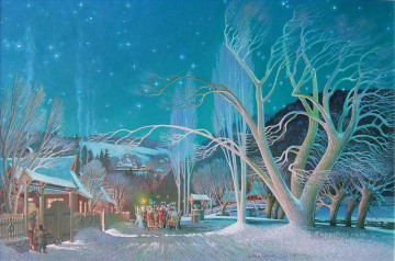 Christmas Painting - Christmas Night kids