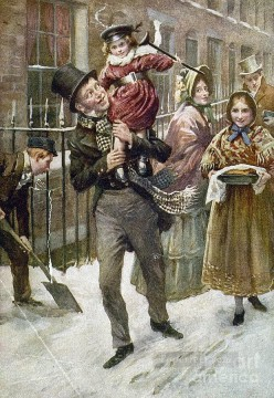 Christmas Painting - Dickens A Christmas Carol kids