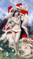 Christmas angels cupid arounding Venus original