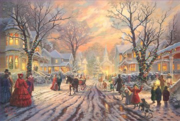 A Victorian Christmas Carol Thomas Kinkade kids Oil Paintings