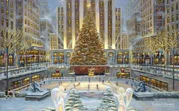 Christmas in New York kids Oil Paintings