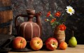 Flowers Fruits Pot Still Life Painting from Photos to Art