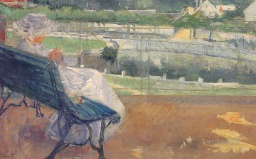 Impressionism Painting - Lydia Seated on A Porch Crocheting child Mary Cassatt impressionism