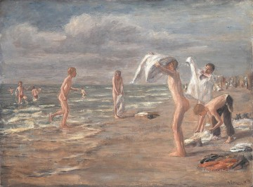 Boys Bathing Max Liebermann German Impressionism kids Oil Paintings