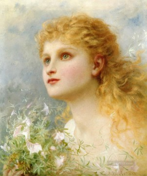 Sophie Oil Painting - Heavenwards Sophie Gengembre Anderson child