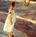 Joaquin Sorolla girl at beach Child impressionism