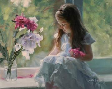 Child Painting - Little Girl VV 04 impressionism
