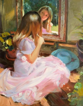 Lovely Little Girl 3 impressionism Oil Paintings