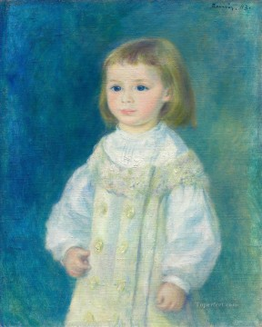 Lucie Berard Child in White by Pierre Auguste Renoir kids Oil Paintings