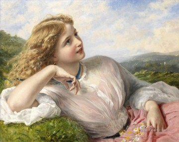 Sophie Oil Painting - The song of the lark Sophie Gengembre Anderson children