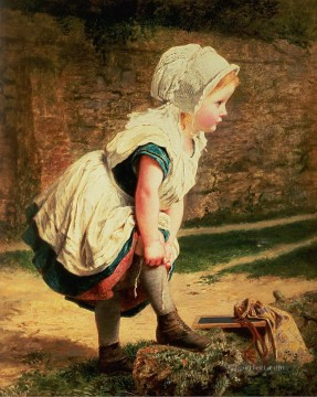 Wait for Me Sophie Gengembre Anderson child Oil Paintings