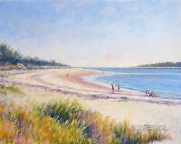 Walkers beach Child impressionism Oil Paintings