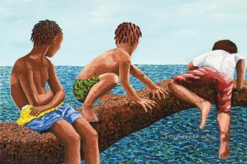 beach 26 Child impressionism Oil Paintings