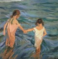 children in the sea joaquin sorolla y bastida impressionism