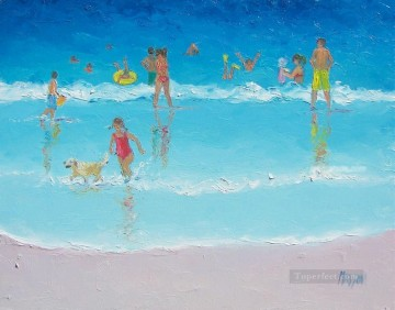 Bliss beach Child impressionism Oil Paintings