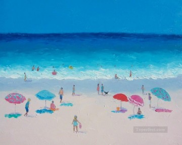 Hot Summers Day beach Child impressionism Oil Paintings