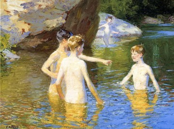 In the Summertime Edward Henry Potthast beach Child impressionism Oil Paintings