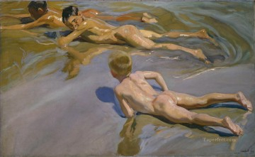 Joaquin Sorolla Chicos en la playa impressionism Oil Paintings