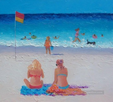 Last Days of Summer beach Child impressionism Oil Paintings