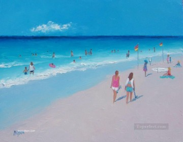 The Skateboarders beach Child impressionism Oil Paintings