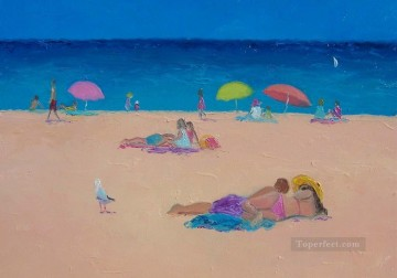 Those Lazy Days of Summer beach Child impressionism Oil Paintings