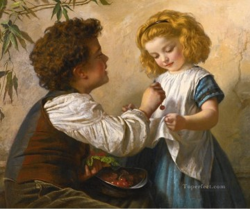Sophie Oil Painting - grape Sophie Gengembre Anderson children