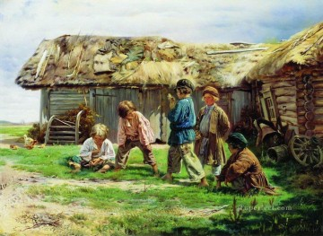 knuckles 1870 Vladimir Makovsky kid child Oil Paintings