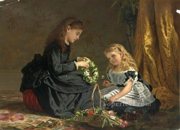 the last tribute of love Sophie Gengembre Anderson children Oil Paintings