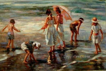 yxr065aD13 impressionist children Oil Paintings