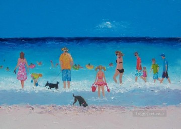 Holiday Fun on beach Child impressionism Oil Paintings