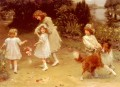 Love At First Sight idyllic children Arthur John Elsley impressionism