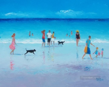 Reflections beach Child impressionism Oil Paintings