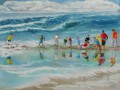 field trip to the james geddes beach Child impressionism