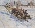 to school Nikolay Bogdanov Belsky kids child impressionism