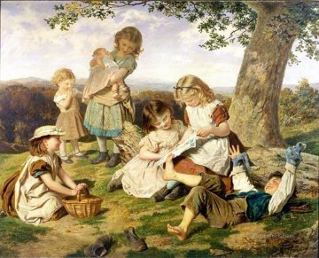 the childrens story book Sophie Gengembre Anderson children Oil Paintings