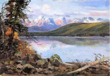 lake mcdonald 1901 Charles Marion Russell Indiana cowboy Oil Paintings