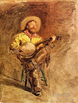 photorealism realism Painting - Cowboy Singing Realism portraits Thomas Eakins